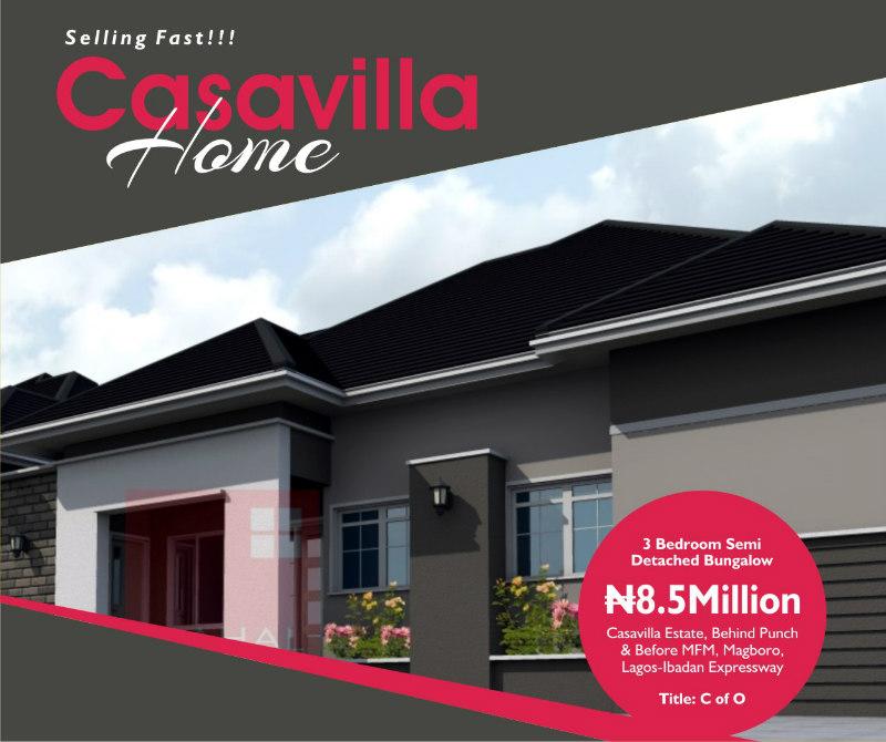 House For Sale 3 Bedroom Bungalow Casavilla Estate Ogun State