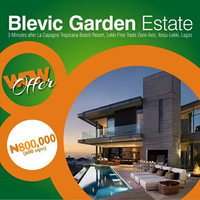 Land for sale in Lagos - Blevic Garden Estate Ibeju Lekki