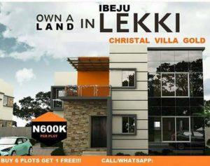 Christal Villa Gold estate Ibeju Lekki