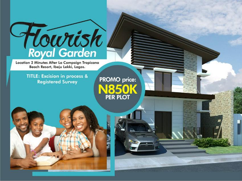 land for sale in Flourish Royal Garden Ibeju Lekki Lagos