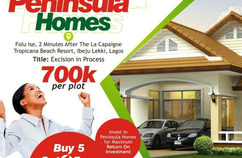 Peninsula Homes estate Ibeju Lekki