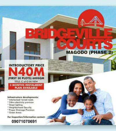 For Sale: Buy Land In Bridgeville Courts Estate Magodo GRA Phase 2
