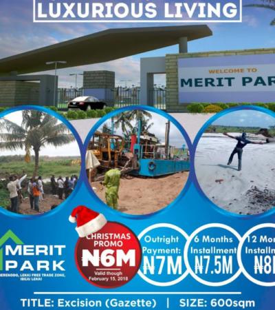 For Sale: Buy Land In Merit Park Estate Close To Amen Estate Ibeju Lekki